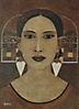 Mujer con pendientes
