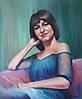 La joven del vestido azul