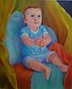 Niño de azul