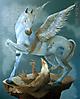 Pegasus en el primer vuelo